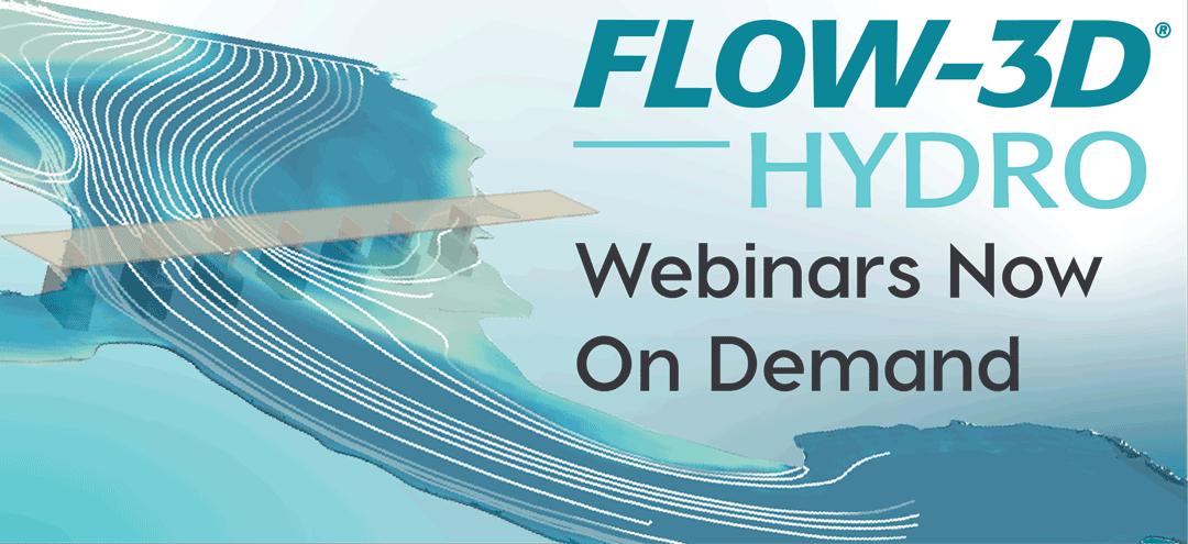 FLOW-3D HYDRO webinars